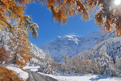 Fin octobre c'est déjà l'hiver en Haute Maurienne.