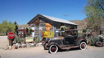 Sur la Route 66 à Hackberry, Arizona.
