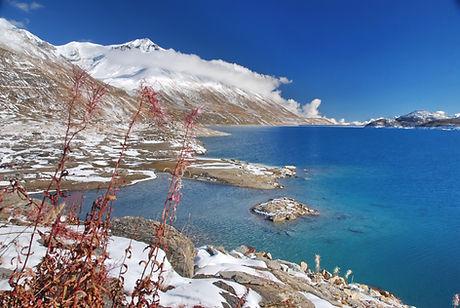 Fin octobre, la neige s'est déjà installée sur le plateau du Mont Cenis en Haute Maurienne.