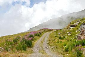 Le chemin vers les nuages en Maurienne.