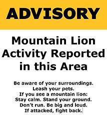 Attention aux très dangereux pumas, dans tous les Etats de l'Ouest du pays.