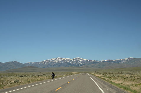 Solitude sur la US route 93 dans l'Idaho USA.