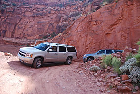 Shaffer Trail, Utah, arrêt photo dans la descente.