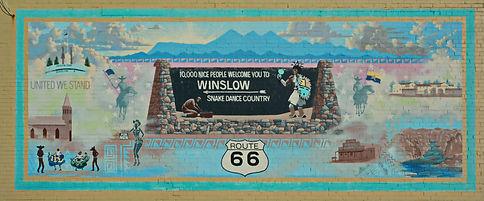 Winslow Arizona, peinture murale en pays indien.