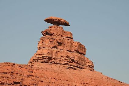 """Célèbre rocher de """"Mexican Hat"""" en Utah."""