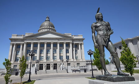 Capitol de Salt Lake City Utah, statue du chef indien Massasoit.
