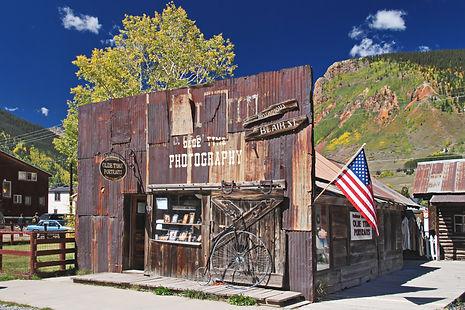 Boutique de photographe à Silverton au Colorado.