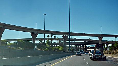Tucson Arizona, échangeur des autoroutes Interstate 10 et Interstate 19.