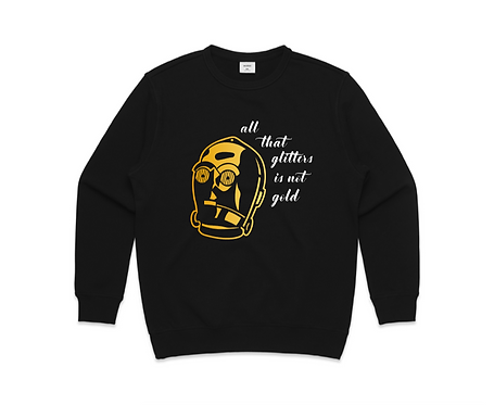 Golden Droid Sweatshirt, inspired by C3-PO, Star Wars