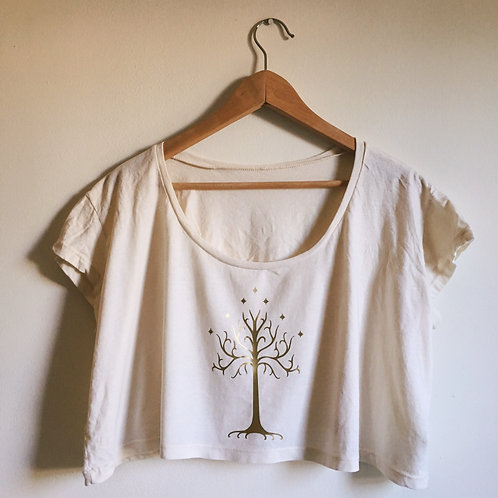 White Tree of Gondor Crop Top
