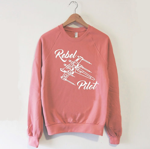 Rebel X-Wing Pilot Sweatshirt in Mauve