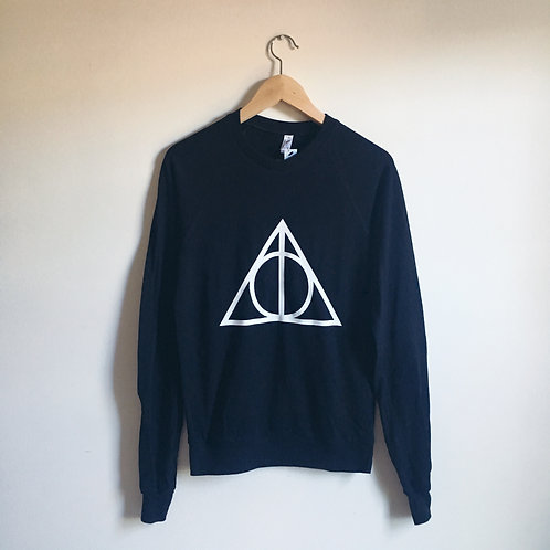 (defect) Deathly Hallows Unisex Lightweight Pullover size S