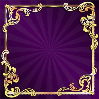 golden_frame_with_purple_background_vect
