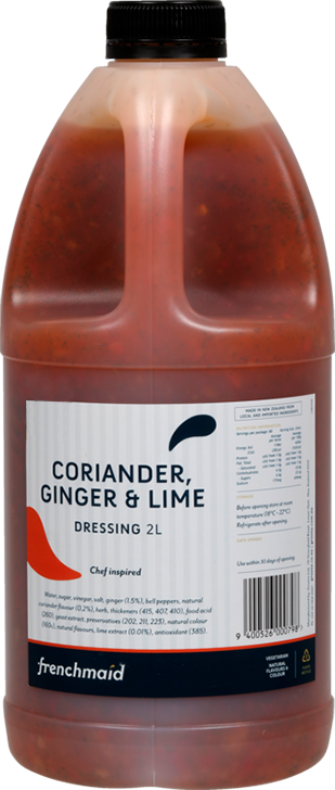 Coriander, Ginger & Lime Dressing (2L, PCU)