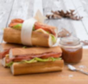 Salami & Cheddar Baguette