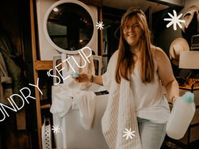Budget Friendly Laundry Set Up in your RV