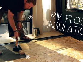 Improved Garage Flooring in our Toy Hauler