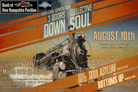 BOTTOMS UP supporting 3 DOORS DOWN, COLLECTIVE SOUL & SOUL ASYLUM
