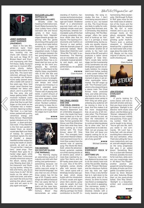 """BLACK VELVET Magazine Review Of """"Everybody Rock N' Roll"""""""