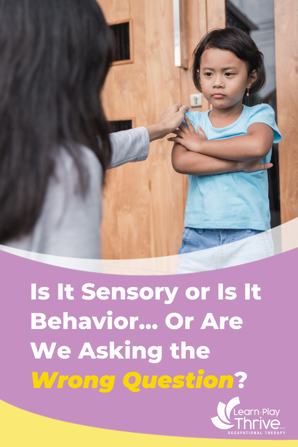 s It Sensory or Is It Behavior…or Are We Asking the Wrong Question