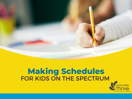 Making Schedules for Kids on the Spectrum
