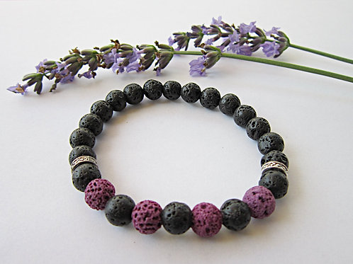 Lava Rock Essential Oil Diffuser Bracelet (PURPLE)
