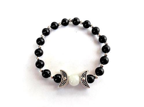 Black Onyx Moon Goddess Bracelet