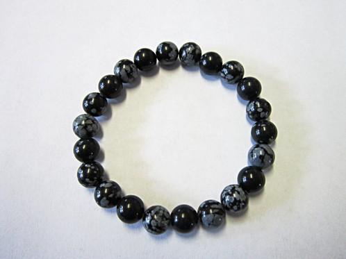 Materials Natural Snowflake Obsidian 8mm Beads