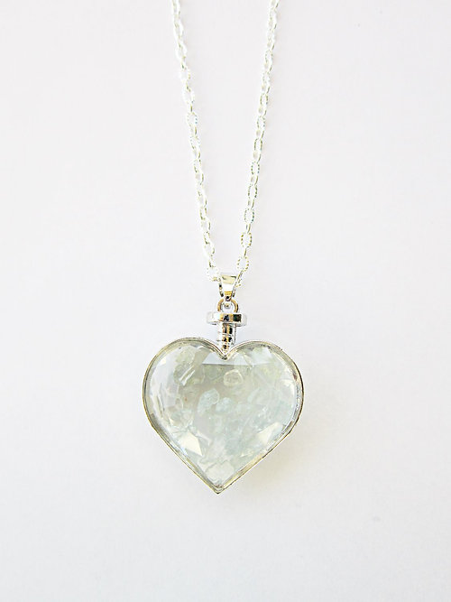 Genuine aquamarine glass heart pendant necklace aquamarine glass heart pendant necklace aloadofball Gallery