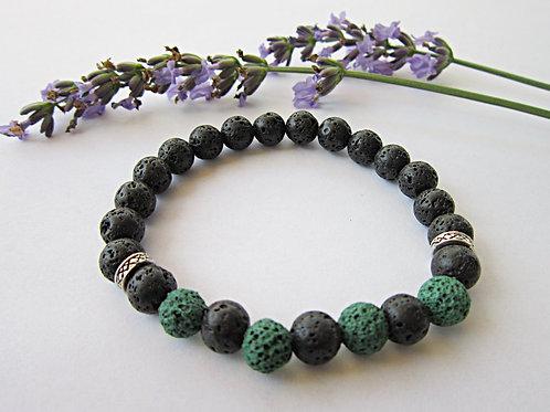 Lava Rock Essential Oil Diffuser Bracelet (GREEN)