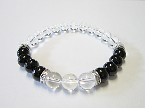 Natural Crystal Yin Yang Bracelet