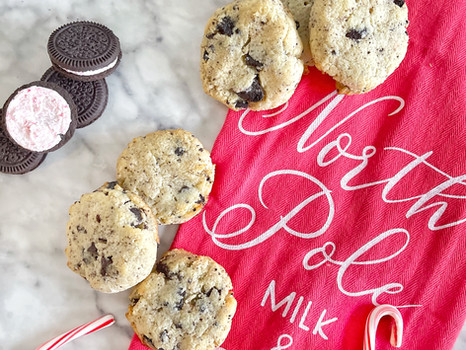 Gluten-Free Peppermint Oreo Chocolate Chip Cookies
