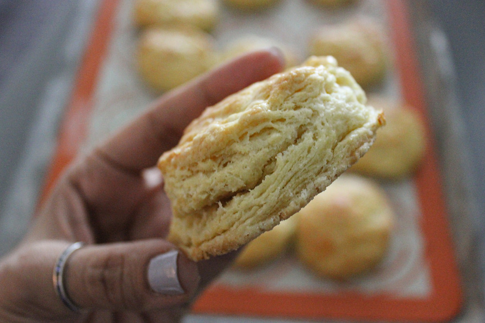 Flaky buttery biscuit