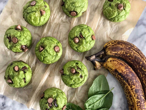 Spinach Chocolate Muffins {KID-FRIENDLY}