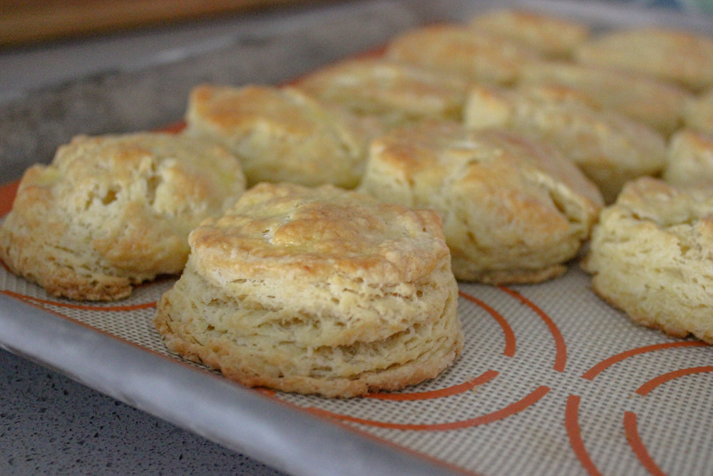 sheet of flaky biscuits