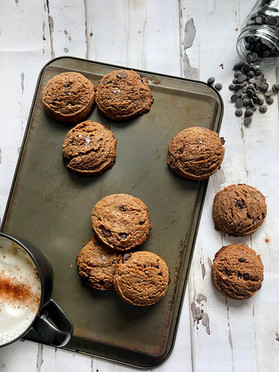 Chocolate Chip Espresso Cookies {Gluten-free}