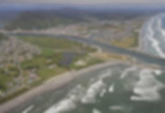 Greymouth from the air - clear air