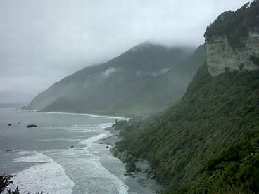 Southern Alps along the West Coast of New Zealand
