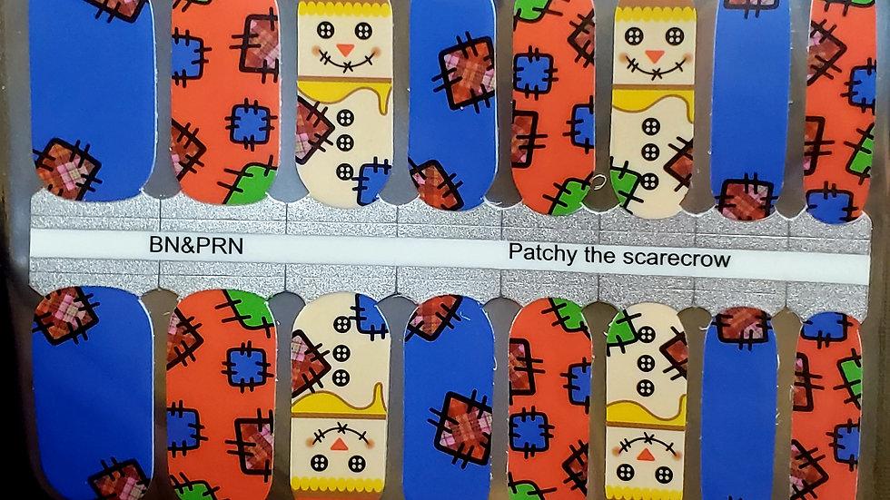 Patchy  the scarecrow - Fall Nail Polish Strips Nail Wraps