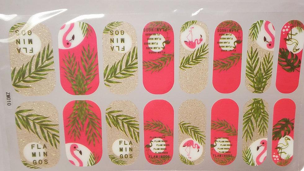Flamingos and Palms