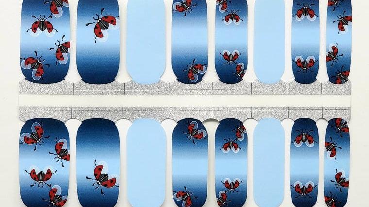 Ladybugs on blue- Animal Theme Design