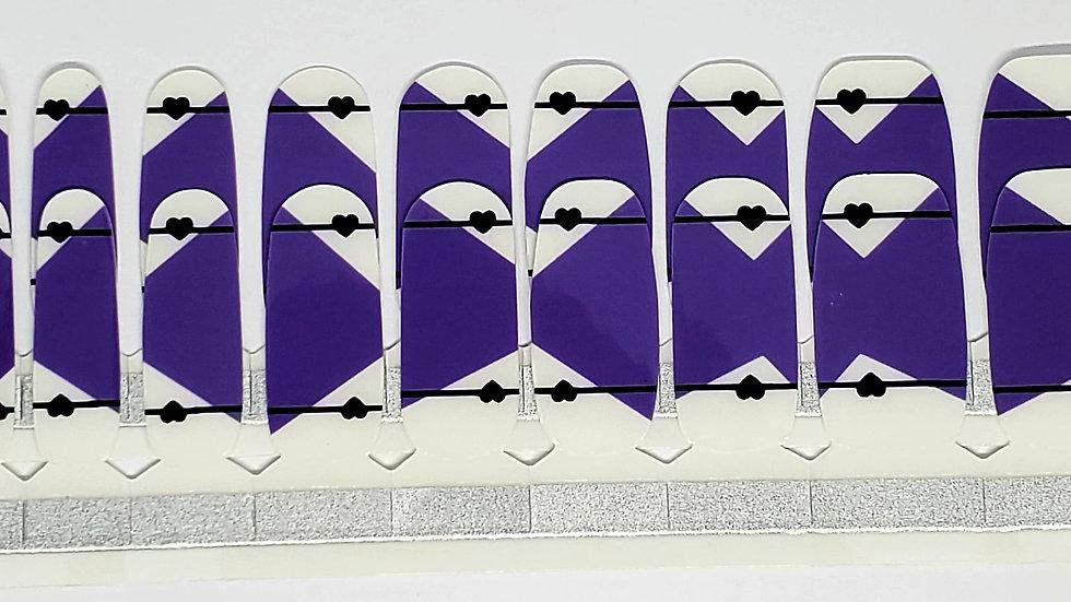 Purple in love - Heart Design