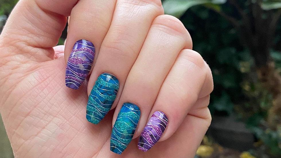 Emerald Waves Patterns