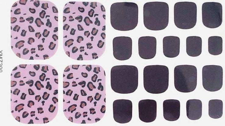 Sweet Purple Leopard Toes