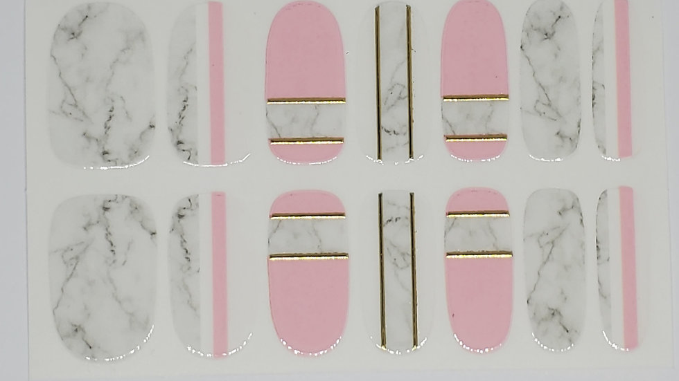Pink and Metallic Marble