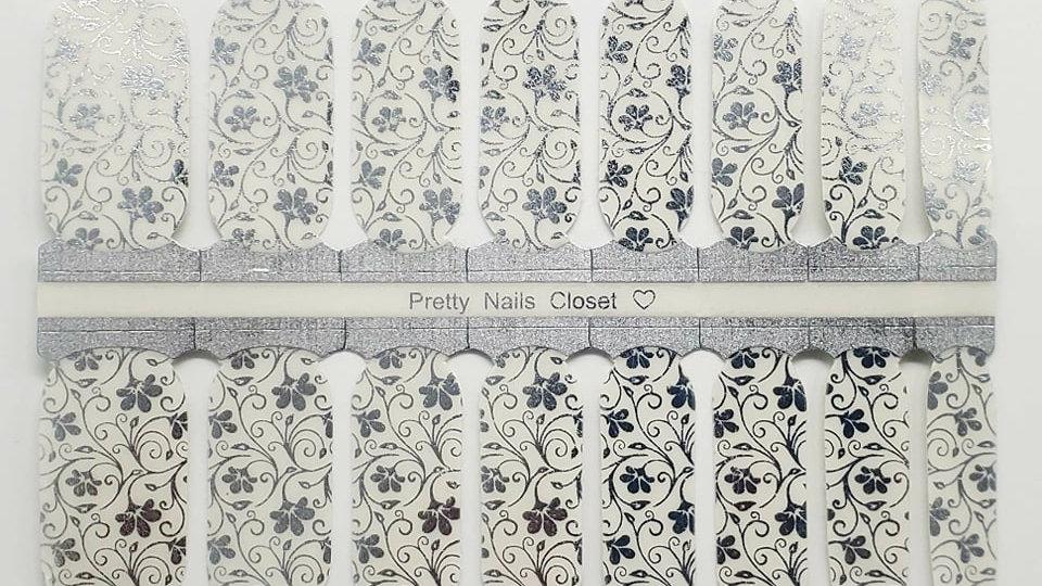 Elegant Floral in Silver- Exclusive  Overlay Design