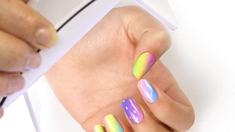 Gel Nail Wraps- Meet the rainbow