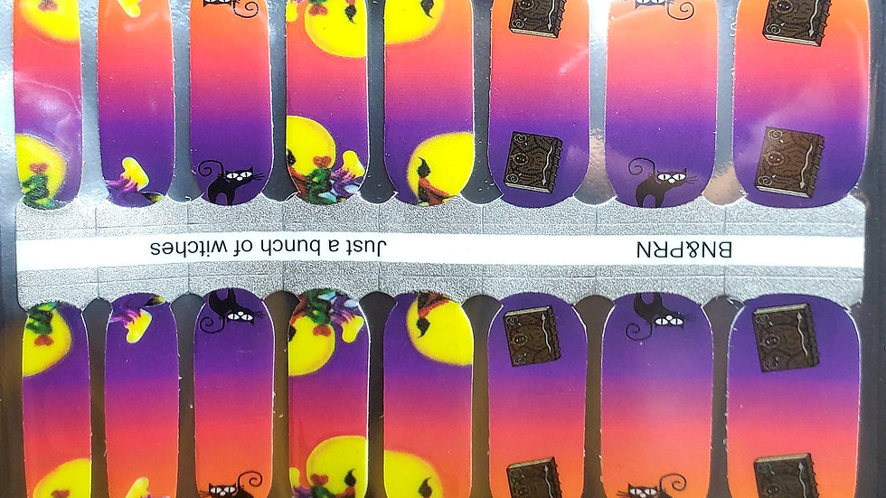 Just a bunch of witches - Halloween Nail Polish Strips Nail wraps