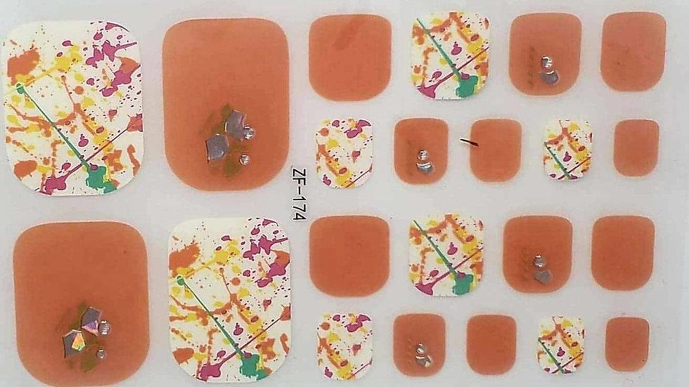 Citrus Splatter Toes
