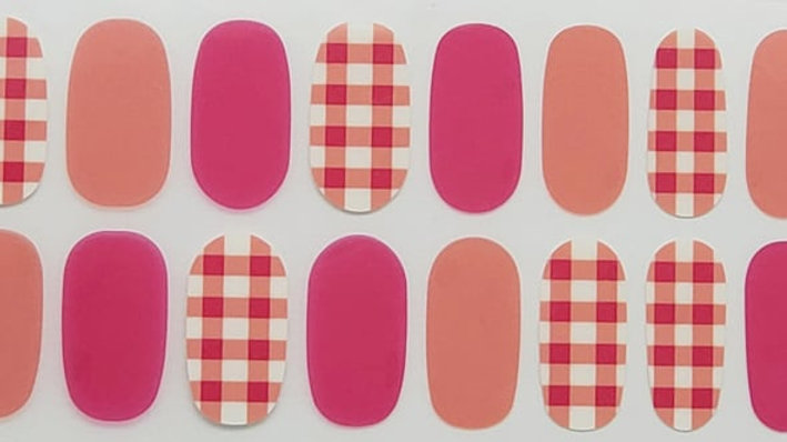 Coral and Plaid